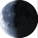 Lunárna fáza - 23. deň