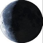 Lunárna fáza - 24. deň