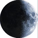 Lunárna fáza - 9. deň
